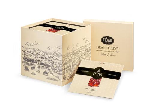 fisan jamon de bellota alta gastronomia cortado a mano caja 32 sobres