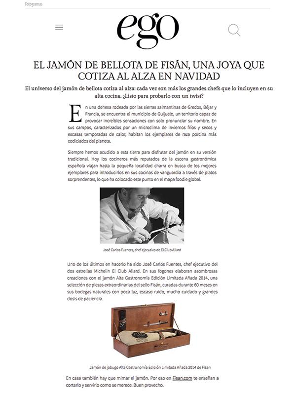 El jamón de bellota de FISAN, una joya que cotiza al alza en navidad