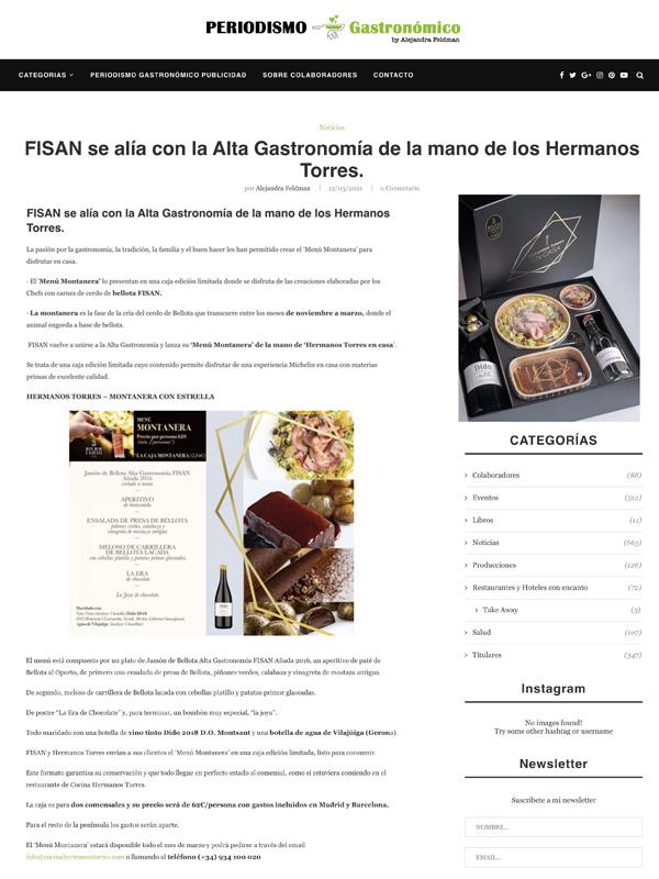 FISAN se alía con la Alta Gastronomía de la mano de los Hermanos Torres