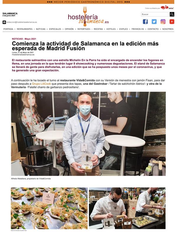 Comienza la actividad de Salamanca en la edición más esperada de Madrid Fusión