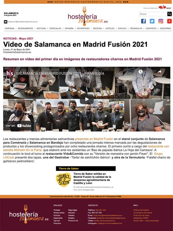 Video de Salamanca en Madrid Fusión 2021