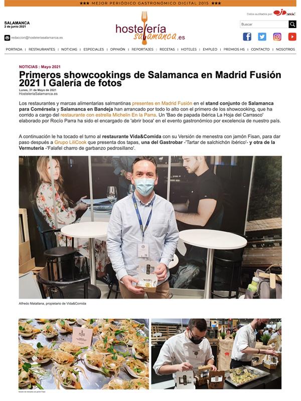 Primeros showcookings de Salamanca en Madrid Fusión 2021 I Galería de fotos